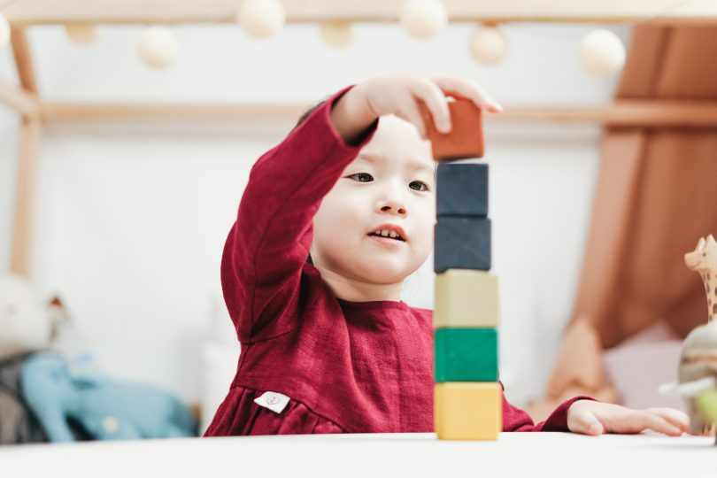 Holzspielzeug im Waldorfkindergarten